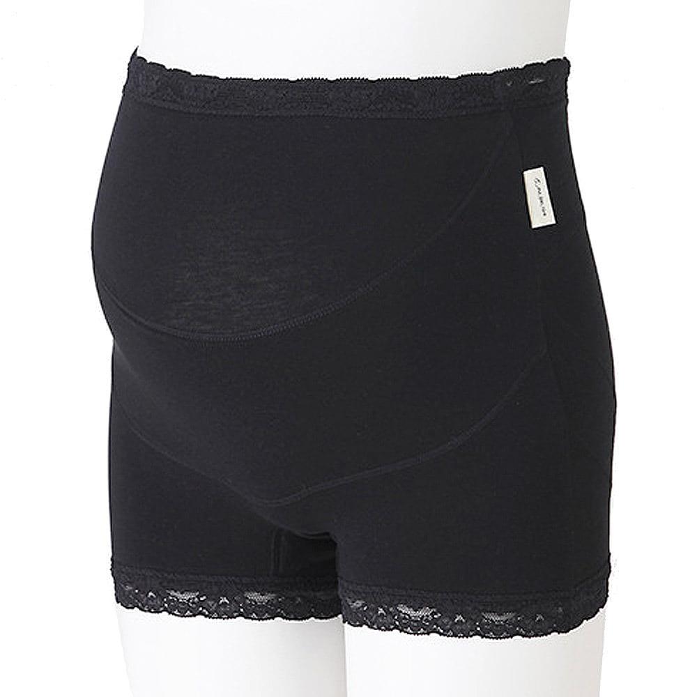 ラクばきパンツ妊婦帯(ブラック・L)