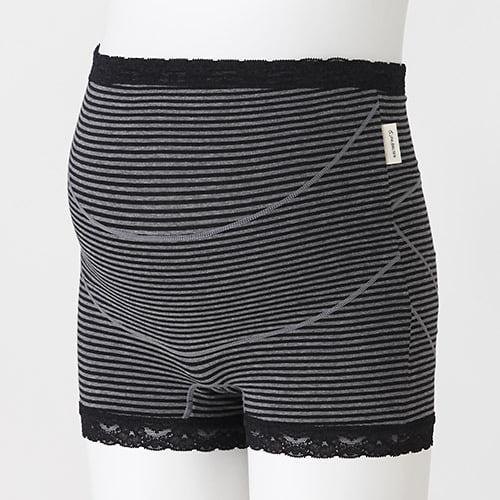 ラクばきパンツ妊婦帯(チャコール・M)