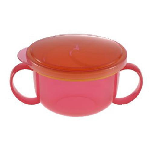 おでかけランチくん こぼれないボーロカップ (ピンク)