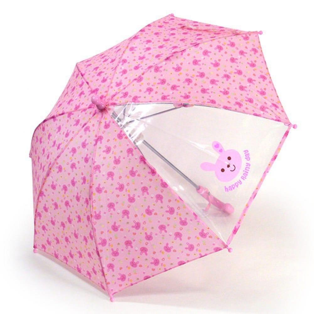 ウサギ総柄 傘(ピンク×40cm)