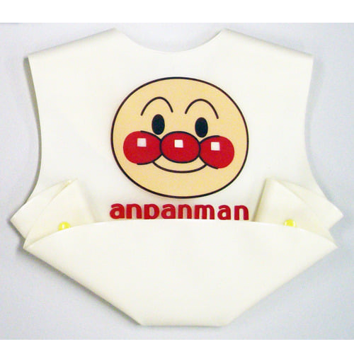 アンパンマン 立体ポケットエプロン (クリーム)
