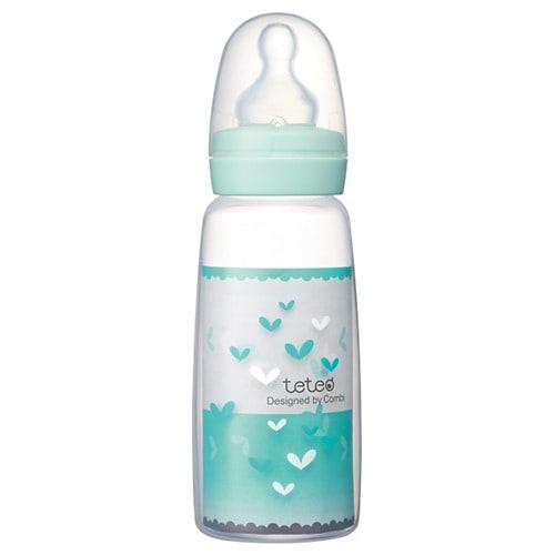 テテオ 哺乳びん ポリプロピレン製j 240ml 母乳・ミルクトレーニング用Mサイズ乳首付き