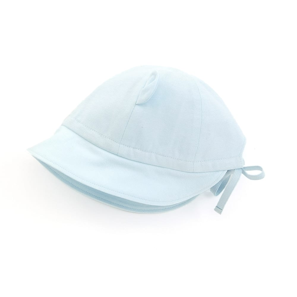 【愛情設計】帽子☆保湿素材(サックス・40~44cm)夏用★日本製★