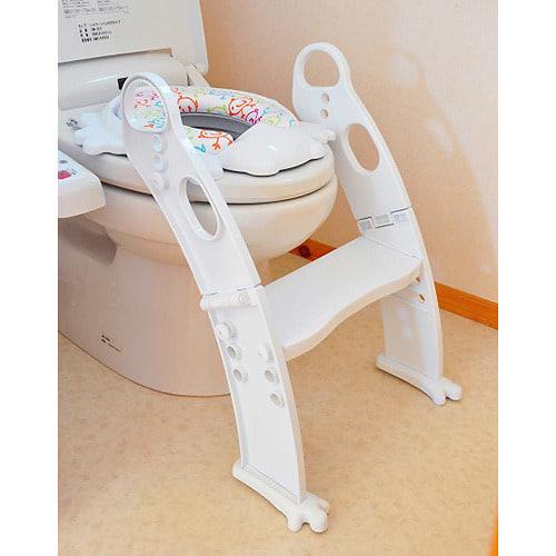 ステップ式 トイレトレーナー (ホワイト)【送料無料】