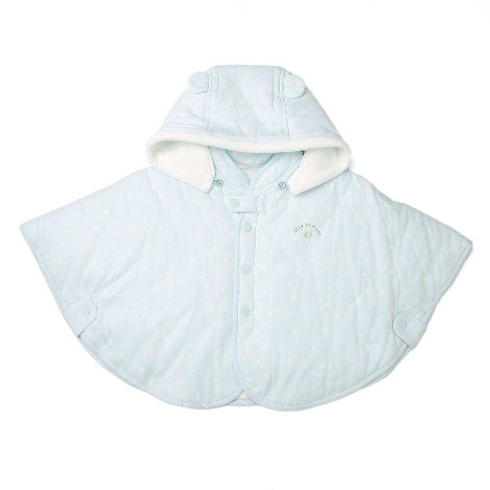 【愛情設計】マント☆保湿素材(サックス・50~90cm)冬用★日本製★【送料無料】