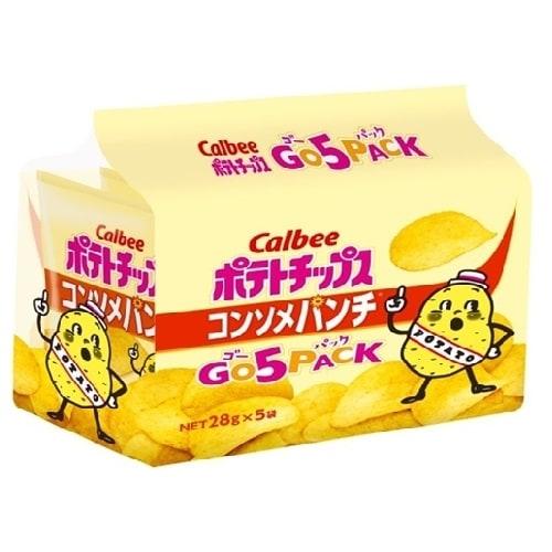 ポテトチップス コンソメパンチ ゴー 28g×5袋【お菓子】