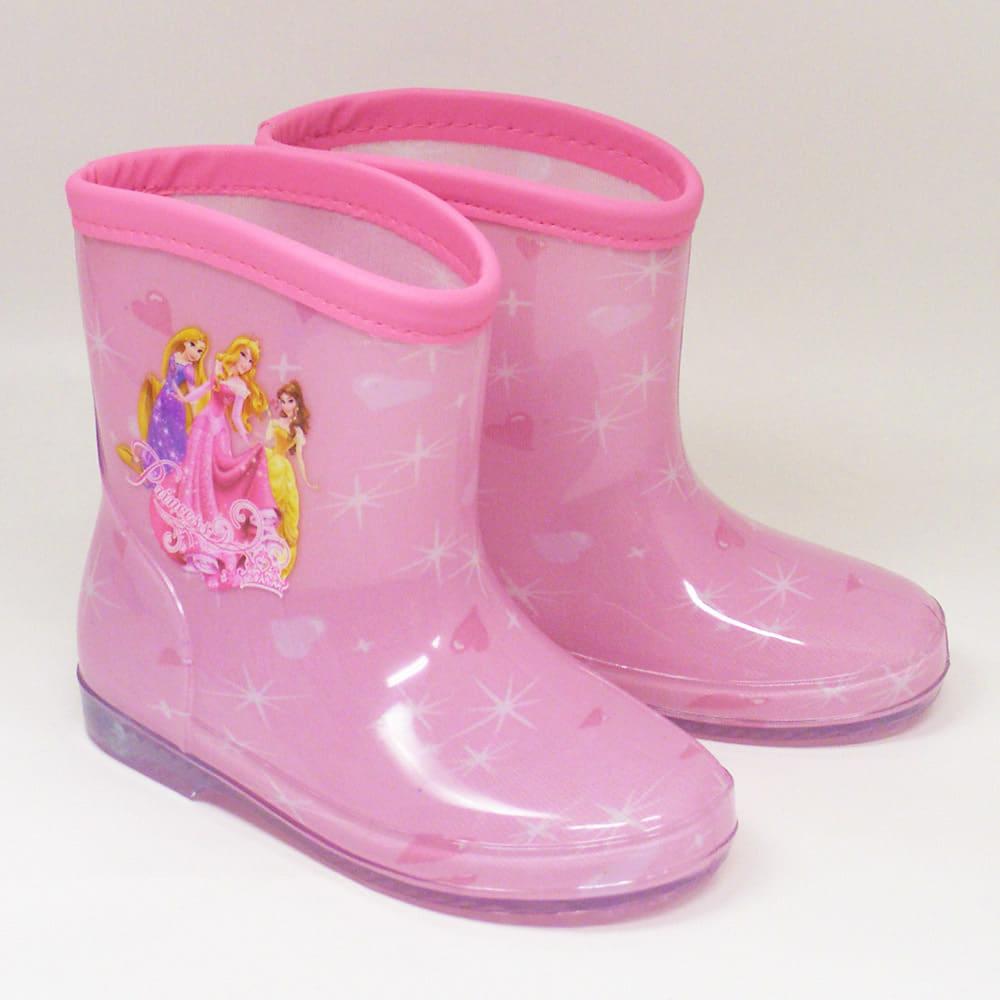 【クリアランス】ディズニープリンセス 長靴(ピンク×14.0cm)
