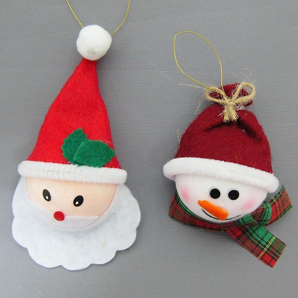 【クリスマス】トイザらス チアー! フェルトサンタ&スノーマンフェイス