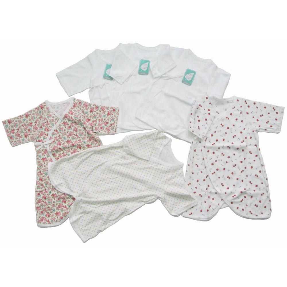 【オンライン限定】女の子 新生児肌着セット(50cm)【送料無料】