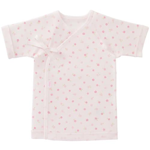 【クリアランス】MIKI HOUSE FIRST フライス短肌着 小花柄 50cm ピンク