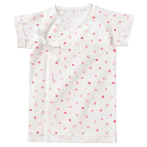 【クリアランス】MIKI HOUSE FIRST 天竺短肌着 小花柄 50cm ピンク