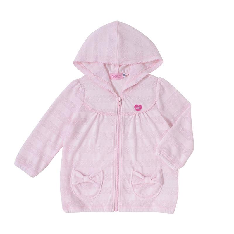 【ホットビスケッツ】花柄ジャカード♪パーカー(ピンク・100cm)