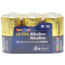 <トイザらス> トイザらスオリジナル アルカリ乾電池 単1形 6本パック