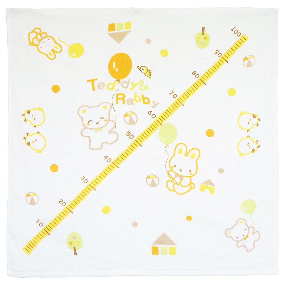 ベビーザらス限定 タオル 正方形 クマ&ウサギ (イエロー)
