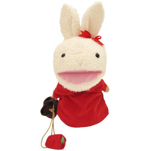 トイザらス アニマルアレイ ぬいぐるみ お買い物ウサちゃん(指人形付き)30cm