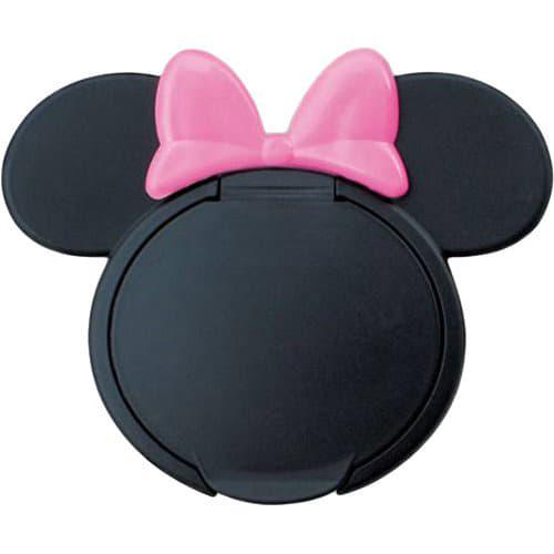 ウェットティッシュふた ミニーマウス ブラックxピンク