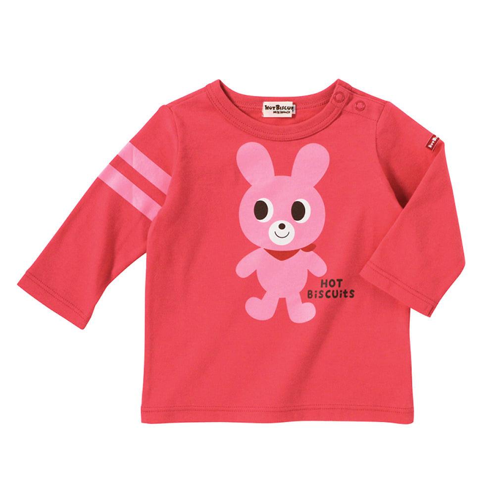 【ホットビスケッツ】キャビットちゃん☆全身プリント長袖Tシャツ(ピンク・70cm)