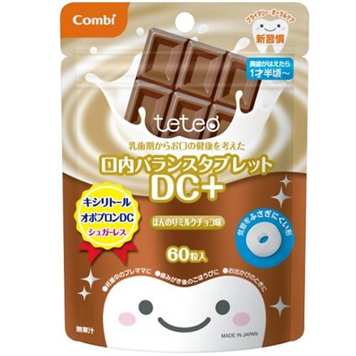 テテオ 乳歯期からお口の健康を考えた 口内バランスタブレット DC+(ほんのりミルクチョコ味)