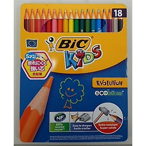BICKIDS(ビックキッズ)色鉛筆 18色(缶入り)