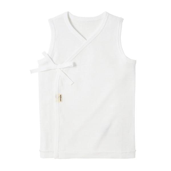 【ホットビスケッツ】 フライス素材のノースリーブ短肌着(白x60cm)