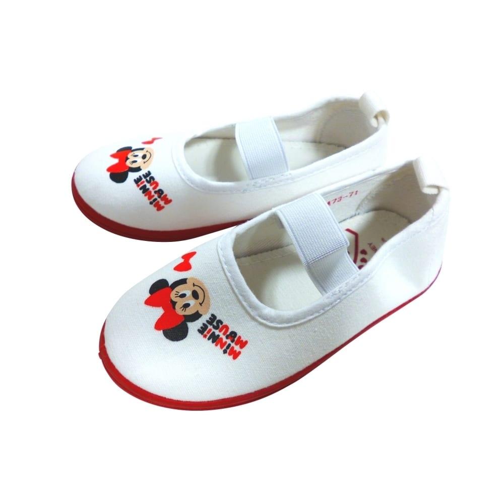 ディズニー ミニー 上履き 上靴 バレーシューズ(レッドx15cm)