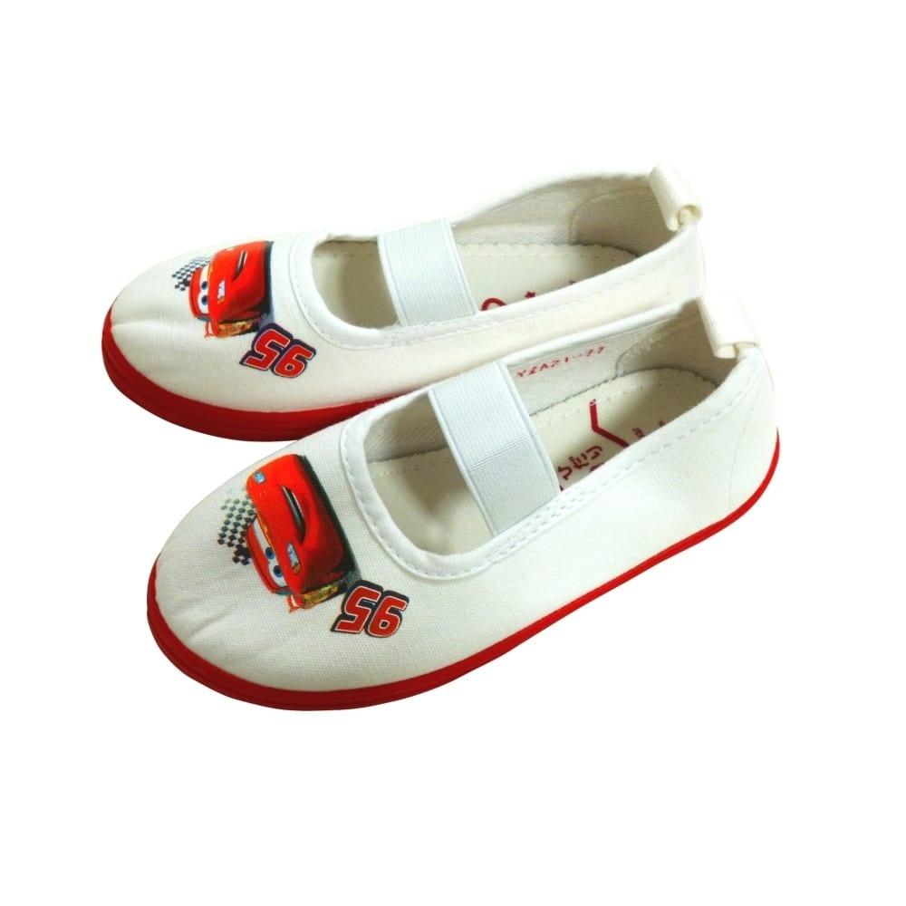 ディズニー カーズ 上履き 上靴 バレーシューズ(レッドx15cm)