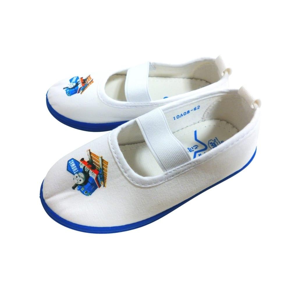 きかんしゃトーマス 上履き 上靴 バレーシューズ(ブルーx18cm)