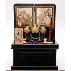 <トイザらス> 送料無料【五月人形】トイザらス限定 兜収納飾り 「龍虎黒木目」