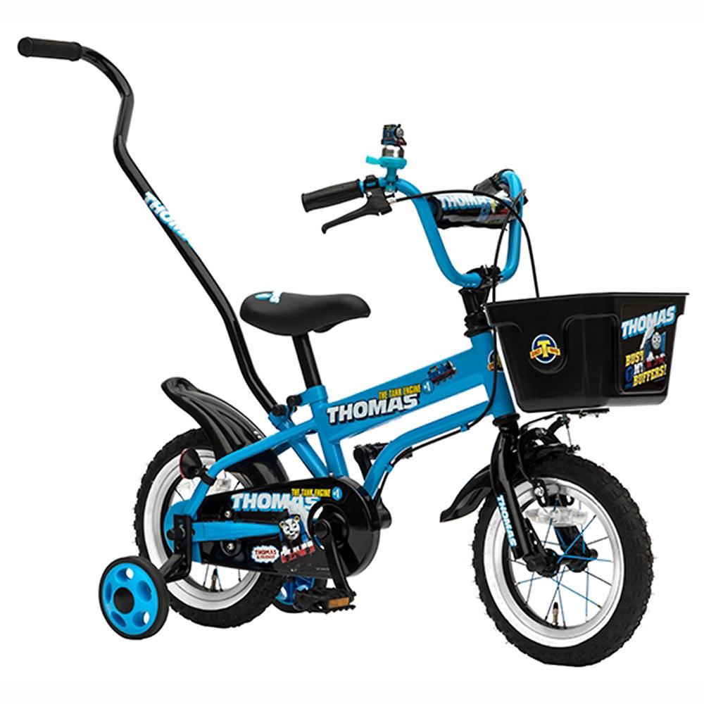 トイザらス限定 12インチ 子供用自転車 きかんしゃトーマス ブルー 押し手棒付き【送料無料】