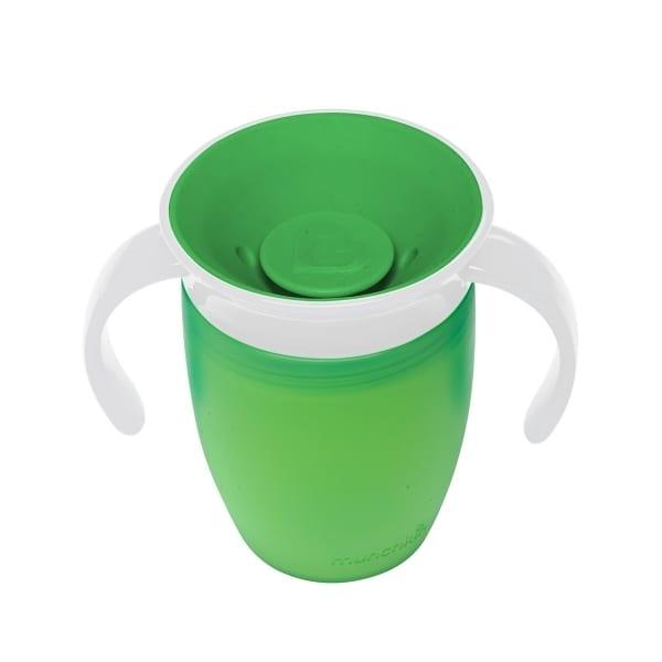 マンチキン ハンドル付ミラクルカップ(グリーン)207ml