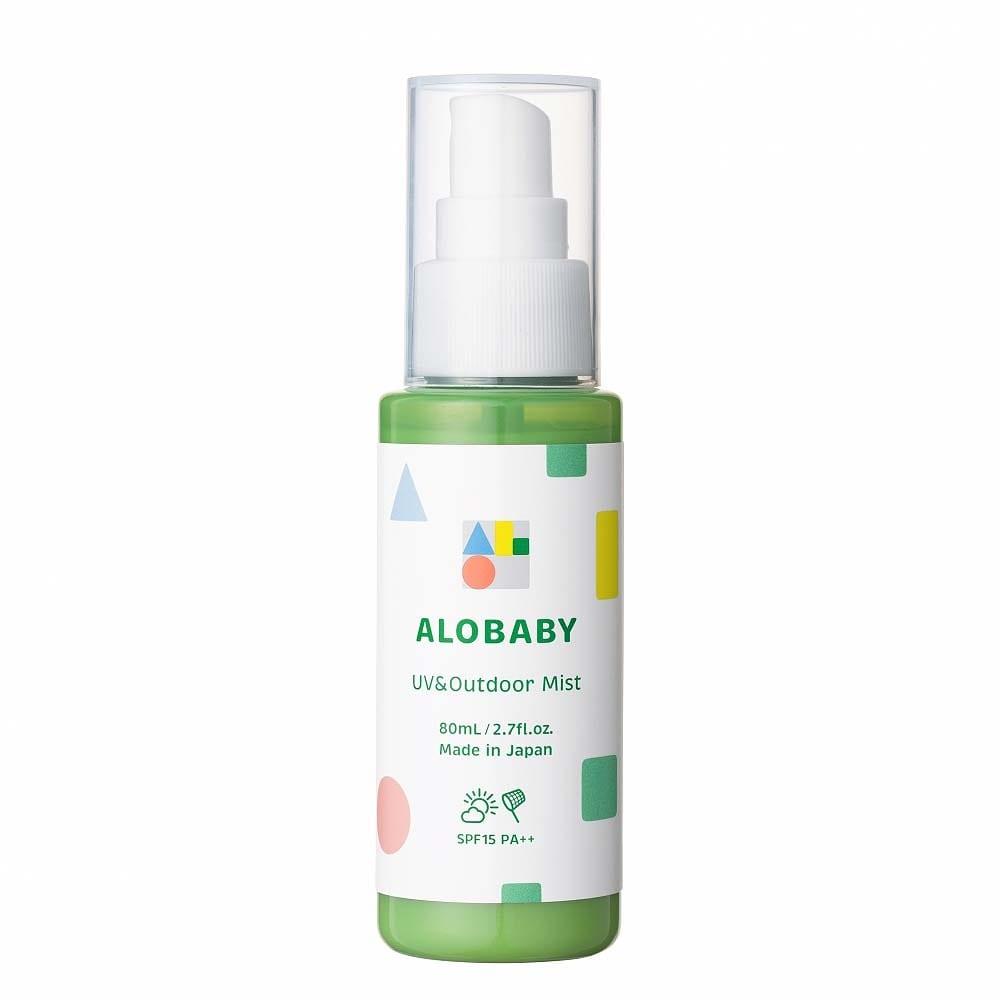 アロベビー 1本で紫外線&外敵対策ができる オーガニックアウトドアミスト UV & アウトドアミスト 80ml