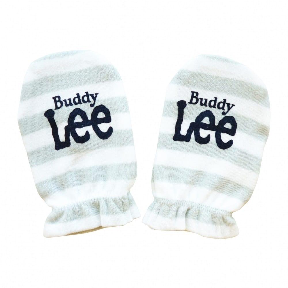 トイザらス・ベビーザらス オンラインストアベビーザらス限定 Buddy Lee 新生児ミトン ボーダー(グレー)