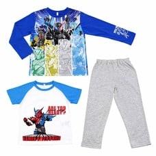 【クリックで詳細表示】仮面ライダービルド 光る2TOPSパジャマ(ブルー×100cm)