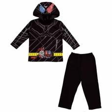 【クリックで詳細表示】仮面ライダービルド 変身長袖パジャマ(ブラック×100cm)
