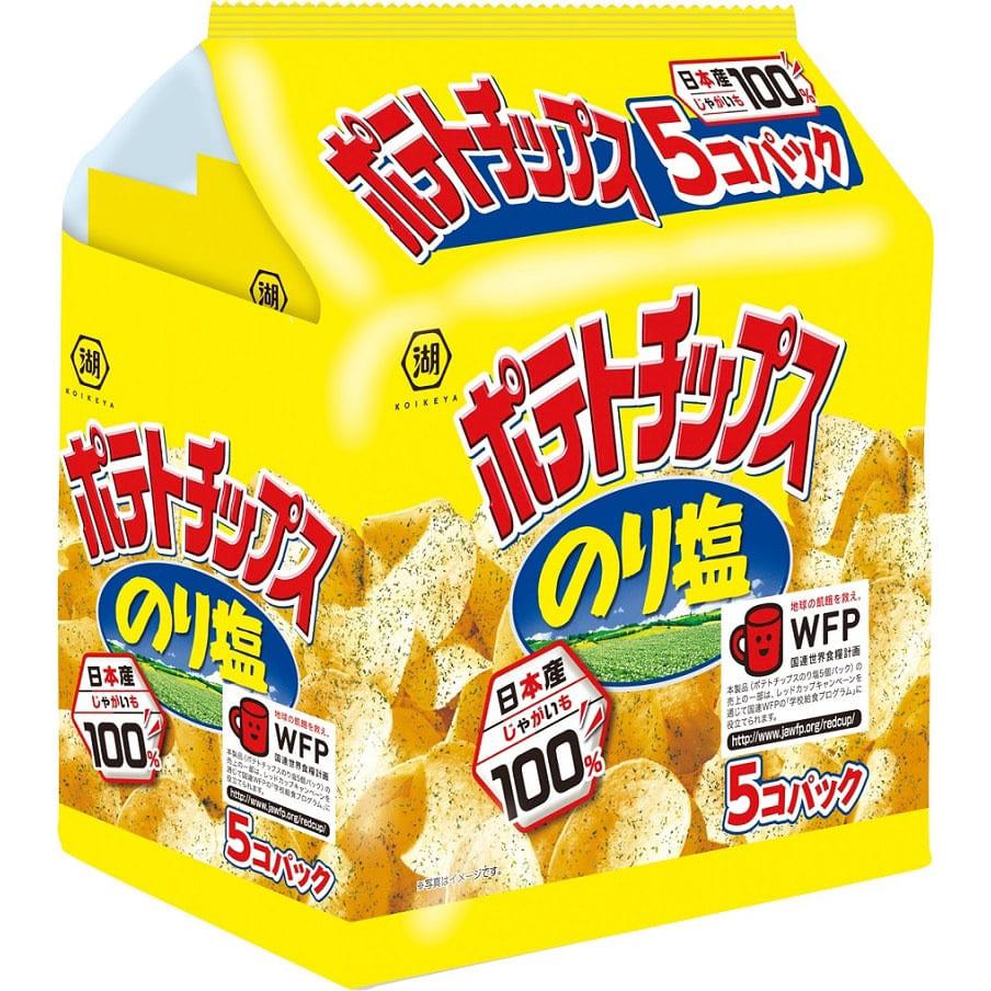 ポテトチップス のり塩 5個パック【お菓子】