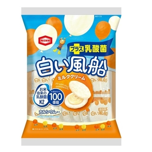 白い風船 ミルククリーム 18枚【お菓子】