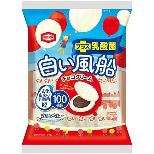 白い風船 チョコクリーム 18枚【お菓子】