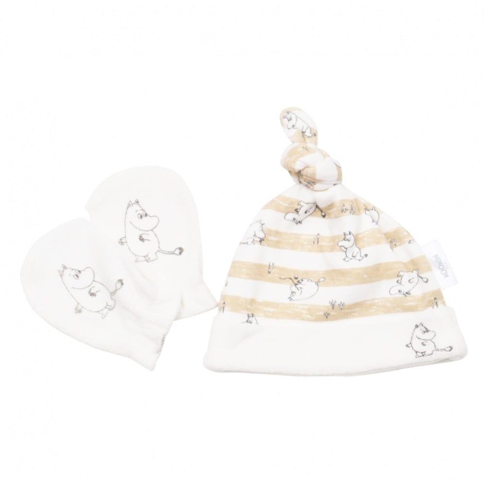 トイザらス・ベビーザらス オンラインストアベビーザらス限定 MOOMIN 新生児帽子&ミトンセット ムーミン(ベージュ×フリー)