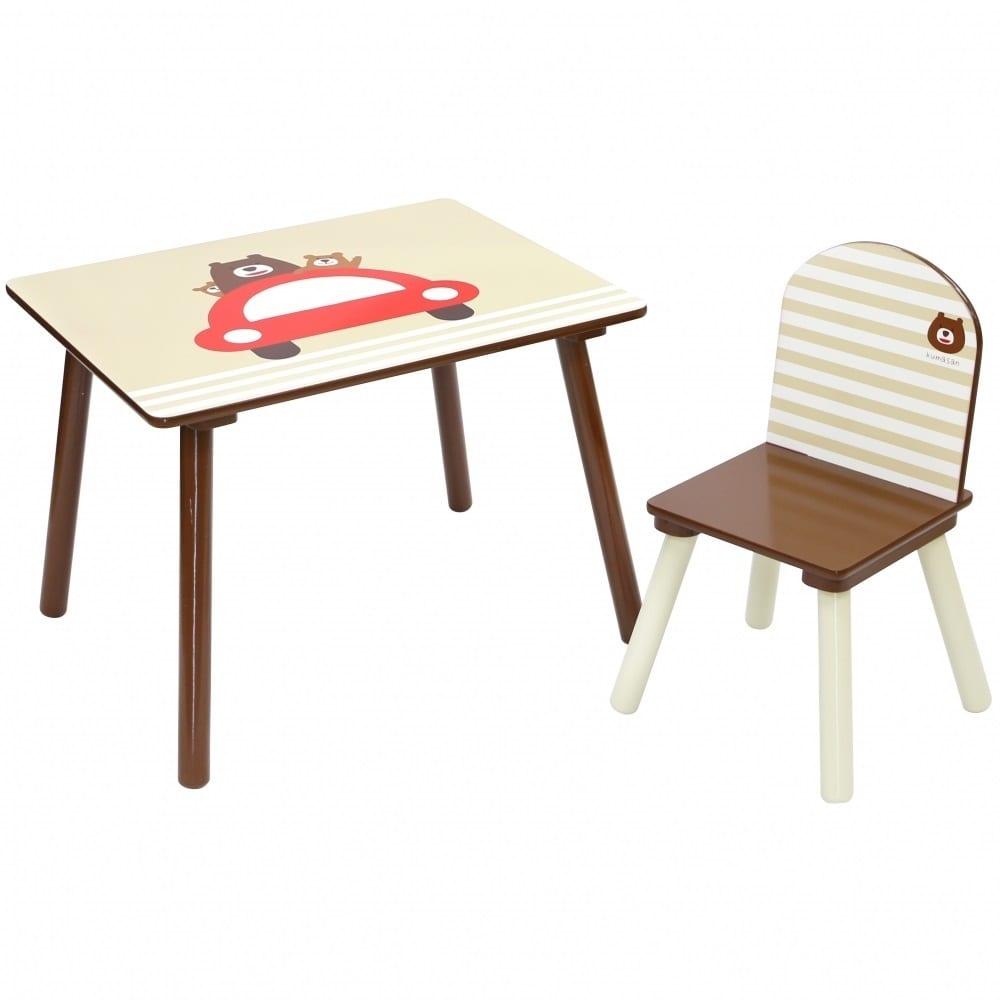 トイザらス限定 キッズテーブル&チェア(ドライブくまさん)【送料無料】