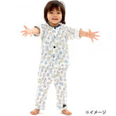 307a26fd99cef ベビーザらス限定 長袖前開きパジャマ 腹巻付き 動物ドット柄(ホワイト×