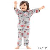 6325cefc5d5e3 ベビーザらス限定 長袖前開きパジャマ 腹巻付き 乗り物柄(グレー×95cm