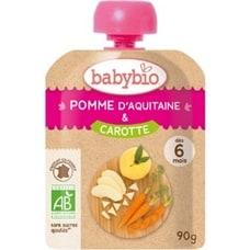 <トイザらス> 有機フルーツと野菜だけで作ったベビースムージー babebio(ベビービオ)アップル・キャロット 【6ヶ月~】