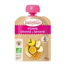 <トイザらス> 有機フルーツと野菜だけで作ったベビースムージー babebio(ベビービオ)アップル・オレンジ・バナナ 【6ヶ月~】