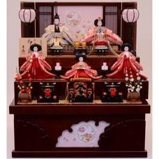<ベビーザらス> 10%OFF! 【雛人形】ベビーザらス限定 三段収納五人飾り「雪輪刺繍雪輪抜き形」【送料無料】画像