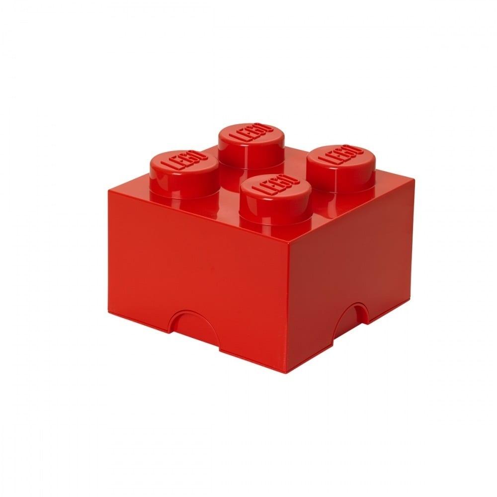 レゴ ストレージボックス ブリック 4 レッド【オンライン限定】【送料無料】