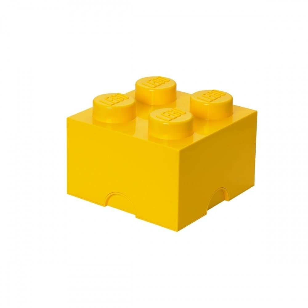 レゴ ストレージボックス ブリック 4 イエロー【レゴ 収納】【オンライン限定】【送料無料】