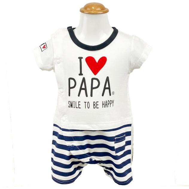 I Love papá Baby polo Navy