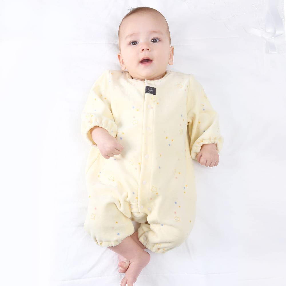 トイザらス・ベビーザらス オンラインストア長袖プレオール ベロア 星柄 (ホワイト×50-60cm)